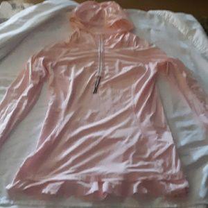 Lululemon pink long sleeve running jacket size 8